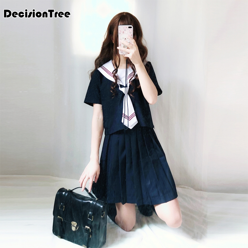 2019 Summer Students Long Sleeved School Uniforms Japan And South Korea Jk Uniforms Junior High School Boys And Girls Students Novelty & Special Use School Uniforms