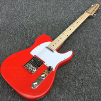 Custom Shop 12 string TL electric guitar,maple guitar fingerboard with black dot inlay and Red body with white picker guard