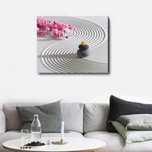 Laeacco Wall Artworkwork Sand Painting Stone Posters and Prints Modern Canvas Living Room Decoration Home Decor