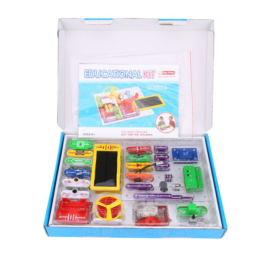 Smart Discovery Kit Circuits Smart Electronic Block Kit Educational Appliance Science Kit Toy DIY Blocks Electric Circuits keyes kt0044 electronic blocks kit