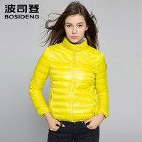 Bosideng abbigliamento donna 90% duck down coat collare del basamento solido piumino ultra leggero di base di vendita di alta qualità B1501016