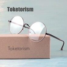 198bff3a69d6f Toketorism retro gafas redondas de metal marcos de anteojos para hipster  lentes ópticas hombre mujer 207