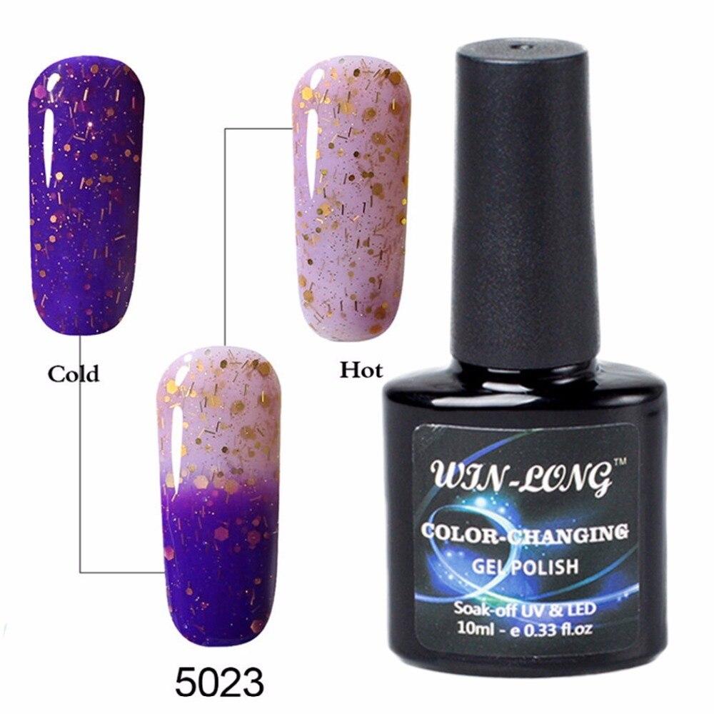 Light Blue UV Led Gel Nail Polish Kit WIN LONG Thermal Colour ...