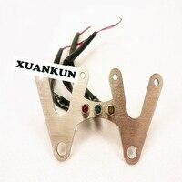 Xuankun мотоциклетные Запчасти двойной инструмент кронштейн три индикатор Aperture 7.5 см