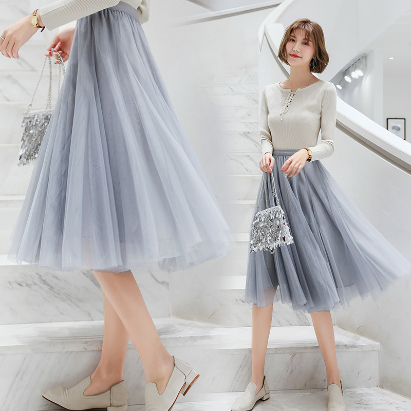 Hearty Women Skirts Summer Lace Princess Fairy Style 3 Layers Voile Tulle Skirt Bouffant Puffy Fashion Skirt Long Tutu Skirts