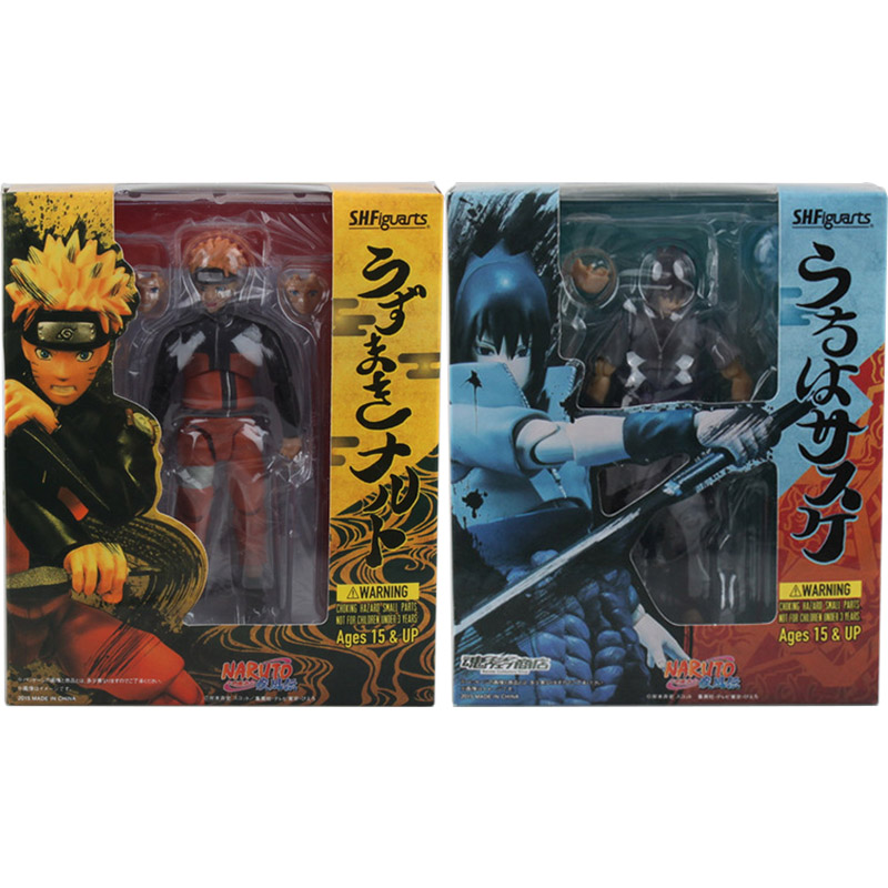 2pcs/lot 14cm SHFiguarts Naruto Shippuden Uzumaki Naruto & Uchiha Sasuke PVC Action Figure Collectible Model Toy Dolls new original drum 960 422 024k for konica minolta bizhub 421 501 420 500 k 7145