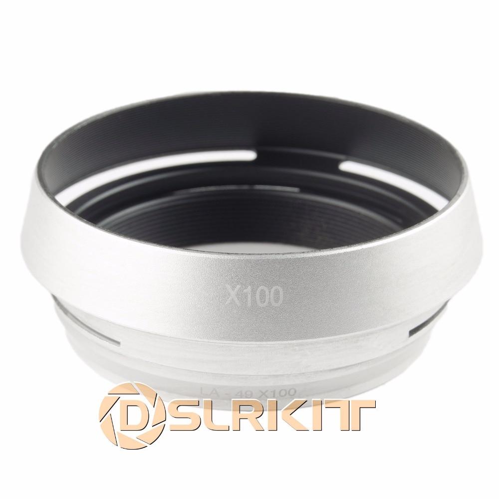 Silver 49mm Lens Adapter Ring Metal Lens Hood For