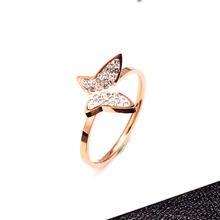 Горячая Распродажа кольца из нержавеющей стали розового золота