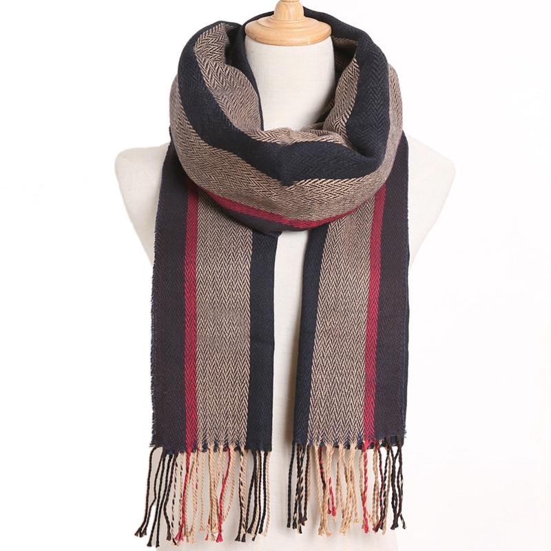 [VIANOSI] клетчатый зимний шарф женский тёплый платок одноцветные шарфы модные шарфы на каждый день кашемировые шарфы - Цвет: 32