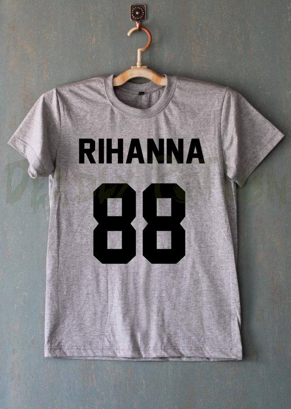 Rihanna көйлек T shirt футболка Tshirts Tee - Әйелдер киімі - фото 3