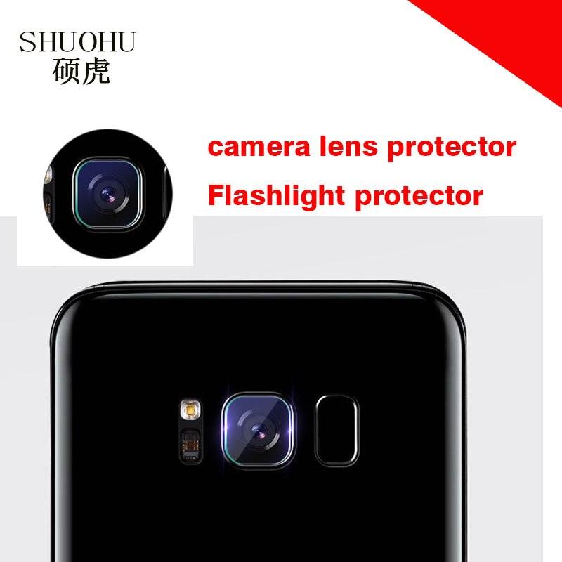 SHUOHU brand for Samsung Galaxy S8/S8 Plus S7 S6 Edge Back Transparent Camera Lens Tempered Glass Film