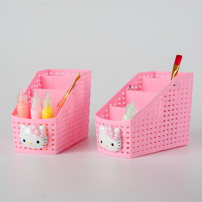 Caroon Cat Office Desktop Storage Box Multipurpose Storage Basket Box Makeup Organizer 1D