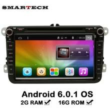 2 г Android 6.0 Автомобиль Радио Стерео DVD gps-навигация головное устройство для поло Passat кролик Amarok Scirocco Touran Jetta Caddy Tiguan