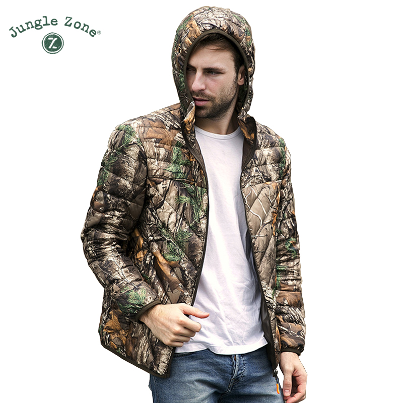 High quality Hooded Camouflage Down Jackets men Ultralight Duck Down Jacket 95% <font><b>White</b></font> Duck Down Jacket mens Parkas Warm Coat
