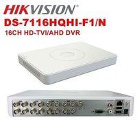 HIKVISION 16CH DVR DS 7116HQHI F1 N TURBO HD 1080P 3IN1 HD TVI AHD Analog Camera