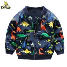 Children Baby boy jacket Cute Dinosaur kids coats Spring Autumn windbreaker girl jackets girls outerwear coats 2 3 4 7 years old цена