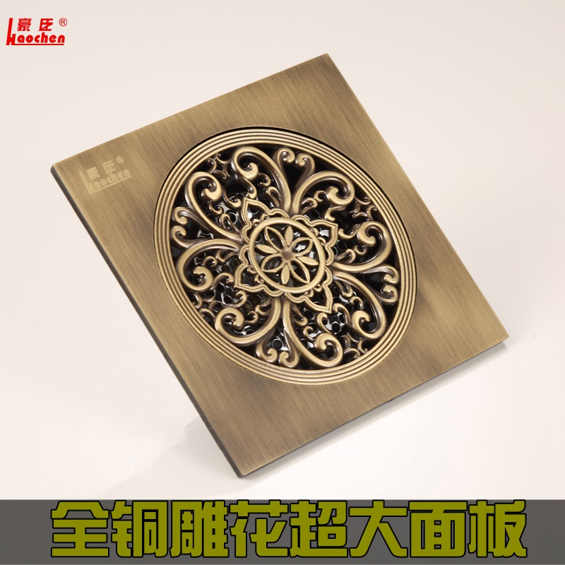 style carved bronze, floor drain 15 cm, odor proof floor drain core, toilet sewer, insect pest, odor control cover toilet time floor golf game set