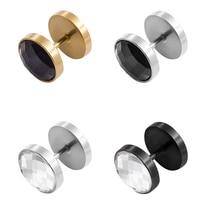 Мужские серьги Нержавеющая сталь серебряный черный штанга серьги гвоздики для мужчин и женщин унисекс ювелирные изделия круглые Pendientes Brincos