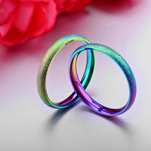 Multi Shaded Titanium Stainless Steel Wedding Ring For Women