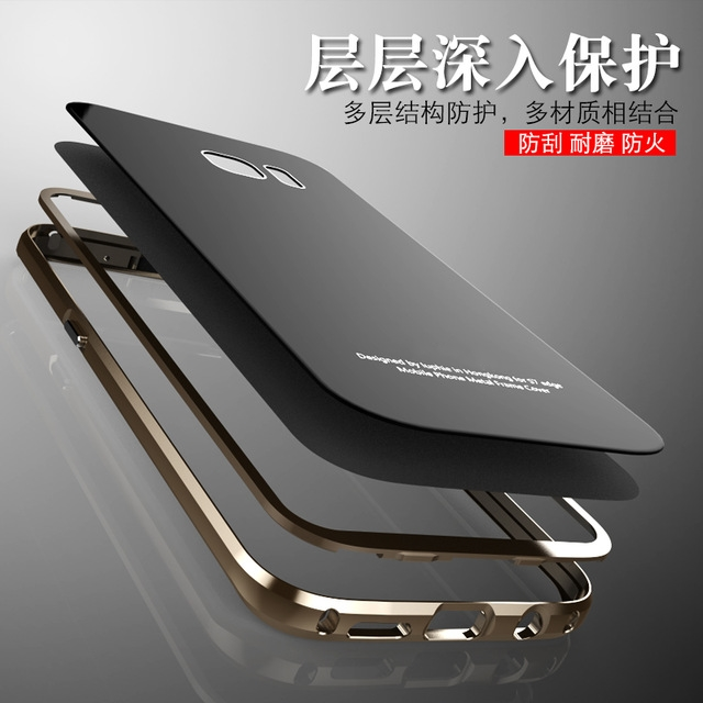 bilder für Für Samsung Galaxy S7 Fall Ursprüngliche Luphie Metallrahmen + Gehärtetes Glas Back Cover Für Samsung Galaxy S7