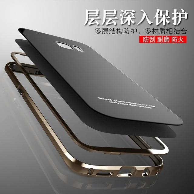 Цена за Для Samsung Galaxy S7 чехол оригинальный LUPHIE металлический каркас + закаленное стекло задняя крышка для Samsung Galaxy S7