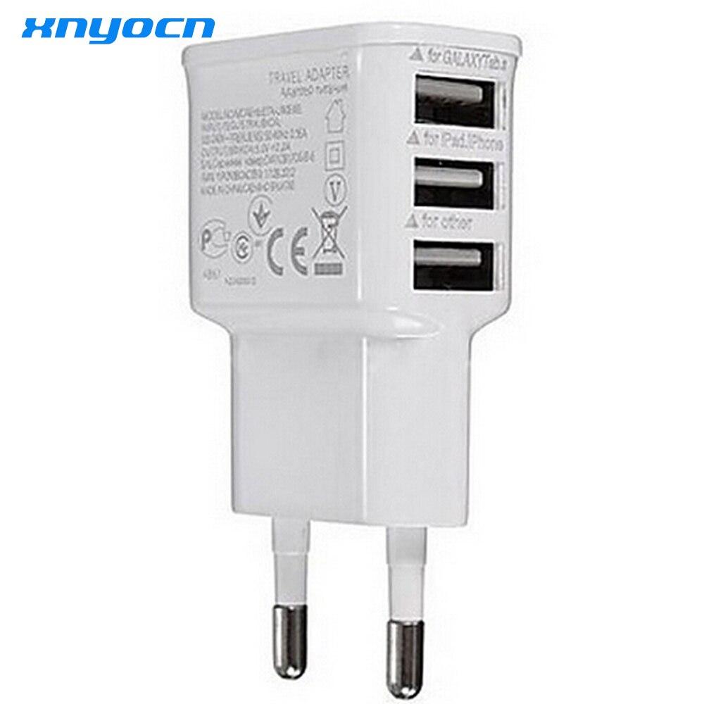 ᗜ LjഃEnvío libre caliente-venta 3 puertos UE enchufe USB Wall ...