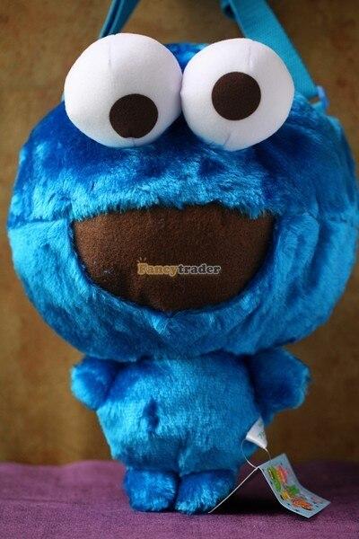 Fancytrader 15 ''36 см Защищенный Авторским Правом Плюшевые мягкие Cookie Monster Сумка, бесплатная Доставка FT90380