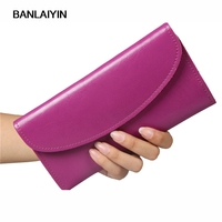 Women Leather Trifold Envelope Wallet New