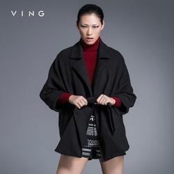 Ving 2017 new arrival winter clothes overcoat women elegant turn down collar outwear light weight short.jpg 250x250