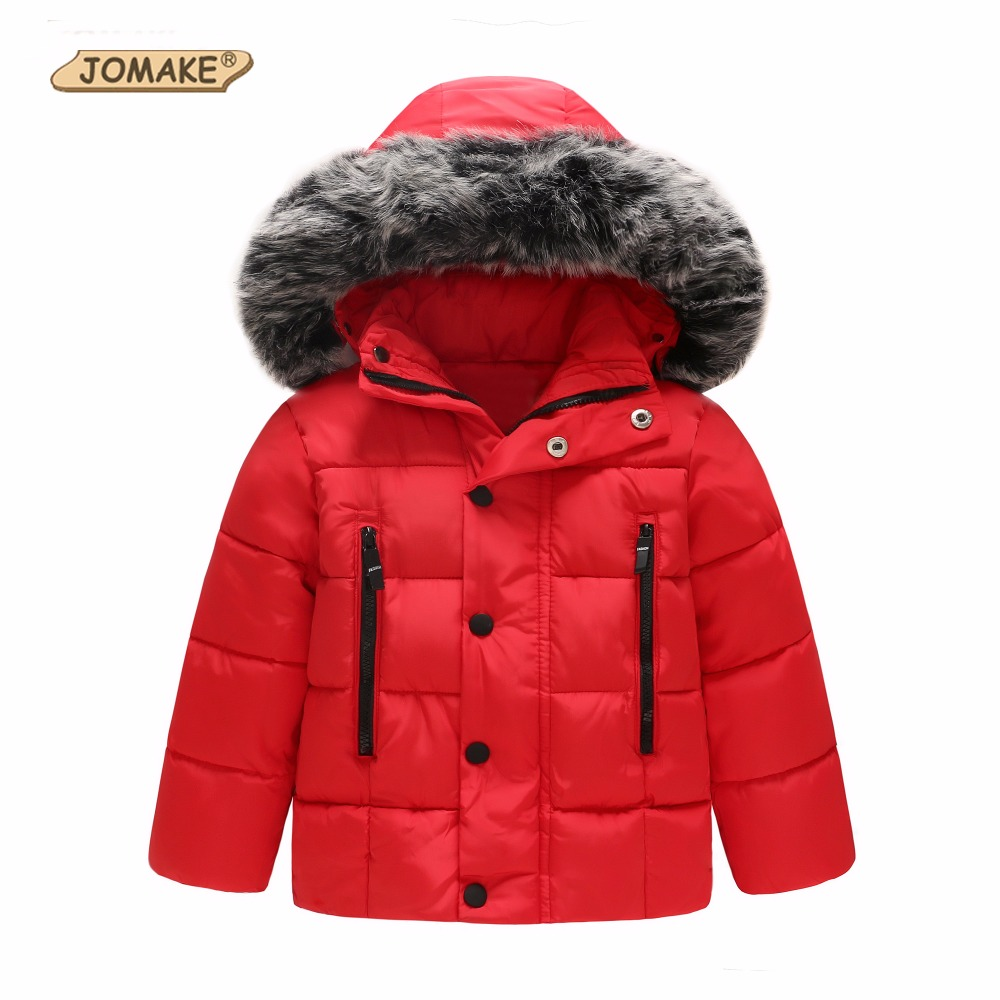 JOMAKE Kids Snowsuit Outerwear Winter Baby Winter Warm Coat Infant Children Clothing Fur Hooded Jacket Parkas Girls Boys Clothes