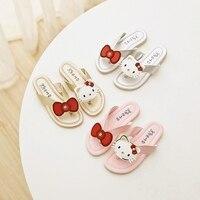 14cm 22 5cm Summer New Style Children Sandals Girls Princess Shoes Flip Flops Beach Shoes Girls