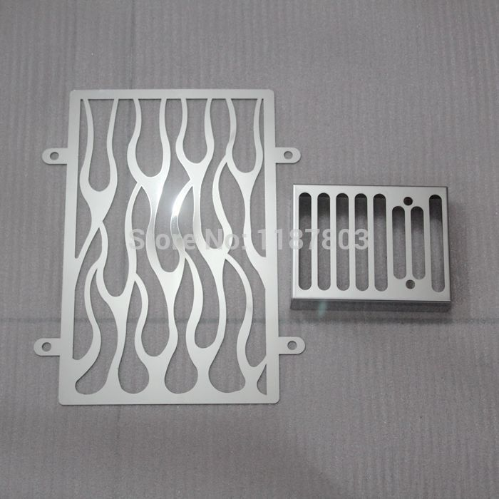 1 Set Chrome Motorcycle Radiator Grille Cover Stainless For Kawasaki vulcan VN 900 vn900 custom CLASSIC accessories