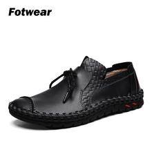 Fotwear Mens casual shoes Hand-made with sewing thread Fashion style and lightweight walking