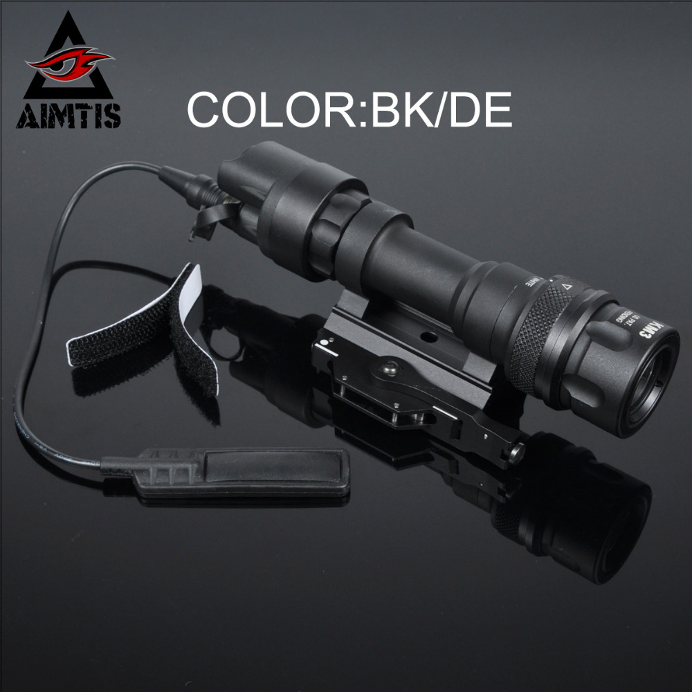 AIMTIS M952V QD Quick Release Tactical Rifle Flashlight Mount Weapon Lights with 400 Lumens for Hunting Gun Accessories element airsoft hunting military led weapon light flashlight pocket for rifle m952v gun tactical black 180 lumens ex 192