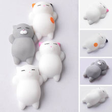 2018 novelty cute animal toys antistress toy mini squeeze cat soft doll relax squeeze stress relief toys kids adult play toy(China)
