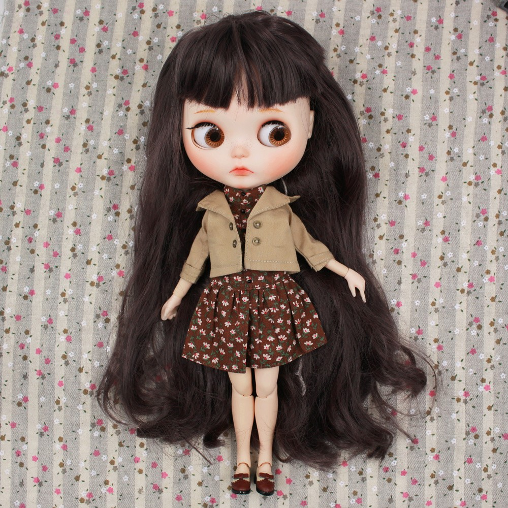Neo Blythe Doll Floral Dress With Jacket 6