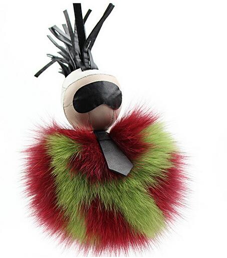 1 PCS monstro Pequeno pingente de sacos de Pelúcia karlito jóias pingente imitação de peles de raposa Chaveiro carro de Pelúcia Moda Pássaro monstro