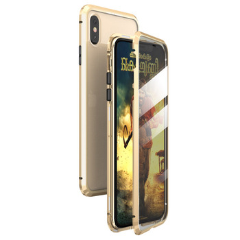 360 Full Protect Magnetic Case for iPhone XR XS MAX X 9 8 7 Plus SE 2020 Case Glass Cover for iPhone 11 Pro Max Case coque Funda - For iPhone 11Pro Max, Gold