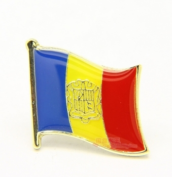National Flag Metal Lapel Pin Flag Pin andorra image