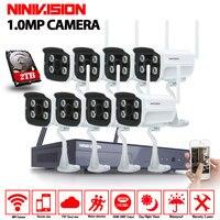 8CH CCTV System 720P NVR 8PCS 1 0 MP IR Outdoor P2P Wireless Wifi IP CCTV