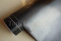 4 рулона/3D виниловая Автомобильная наклейка из черного углеродного волокна/без воздуха, как настоящая тканая наклейка из углеродного волок