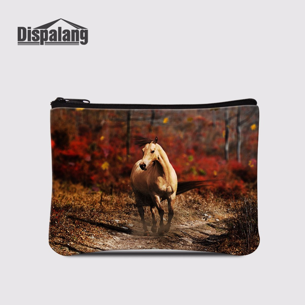 Coin Purses Well-Educated Dispalang Female Wallet/child Purse Makeup Case Pouch Toiletry Organizer Holder Animal Horse Money Coin Bags Mini Coin Purse