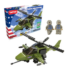 TATCO 140Pcs Small Military Helicopter Building Blocks Bricks Kids Educational For Children Construction Toys Compatible Lepine