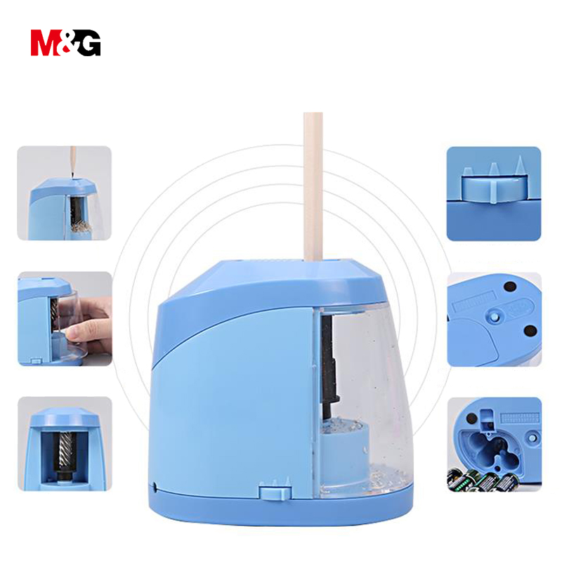 M&G Classic simple Electric pencil sharpener for school supplies quality automatic elegant office stationery gift for kid friend usb 2 0 data charging cable with micro usb port for htc samsung motorola zte more blue