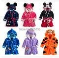 2016 bebê banho crianças pijamas Mickey Minnie veste de banho do bebê homewear meninos meninas com capuz robe roupas de desenhos animados