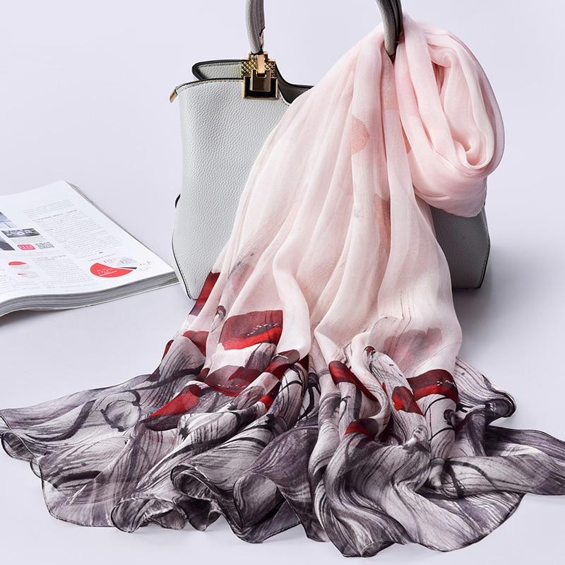 Chiffon Silk Scarf for Women