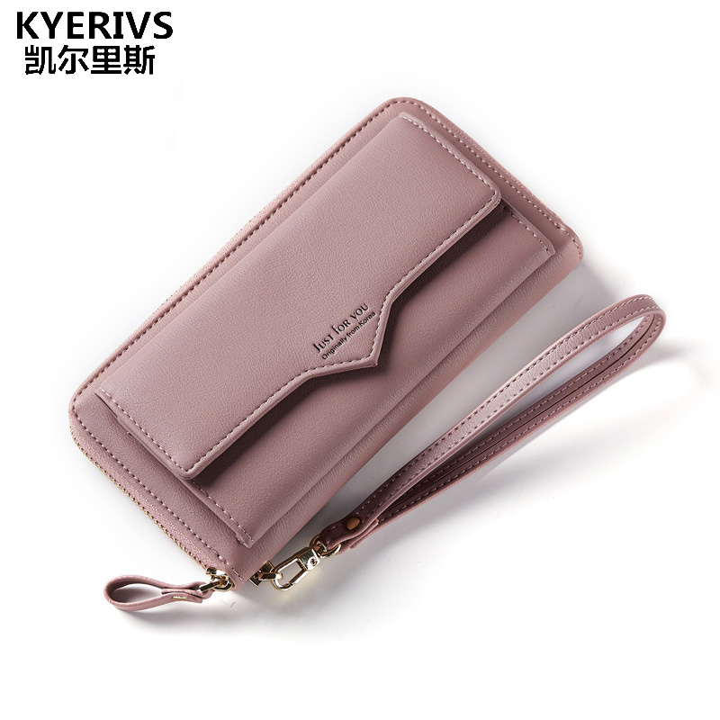 KYERIVS New Fashion Women Wallets Multifunction Wallet Female Brand Coin Purse Pu Leather Zipper Wallet Womens