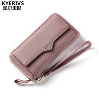 KYERIVS New Fashion Women Wallets Multifunction Wallet Female Brand Coin Purse Pu Leather Zipper Wallet Womens