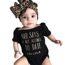 Newborn Baby Girls Bodysuits Clothes Romper Leopard Headband Infant Short Sleeve Jumpsuit Summer Clothing Playsuit