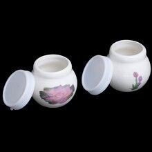 Nail-Cup Glass Crystal Dappen Dish Ceramic Acrylic Liquid-Glass-Powder Clear 1pcs